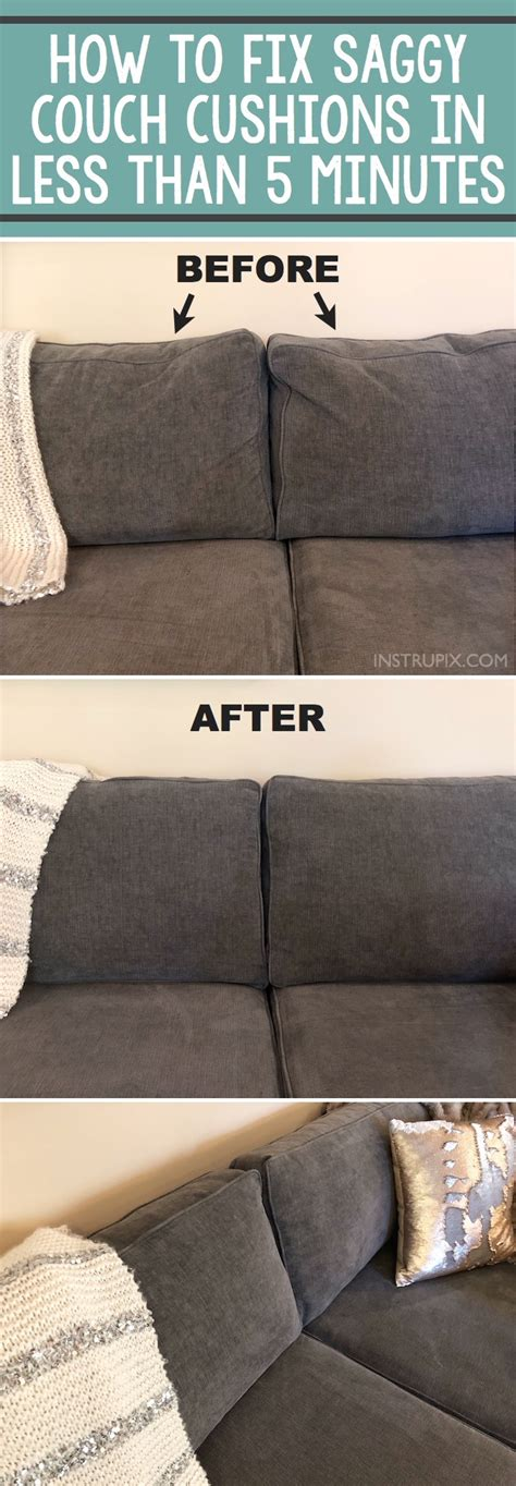 Fixing Sagging Cushions by Tip How To Fix Saggy Cushions A Hack Everyone