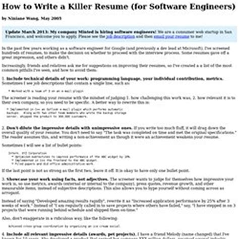 How To Write A Killer Resume by Paul Graham Pearltrees