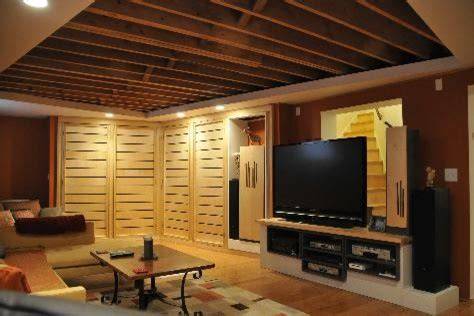 felice basement ideas exposed joist ceilingjpg