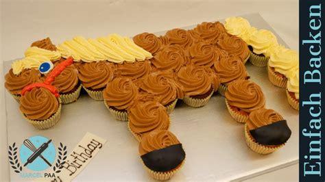 cupcake pferd zum kindergeburtstag pull  cupcakes