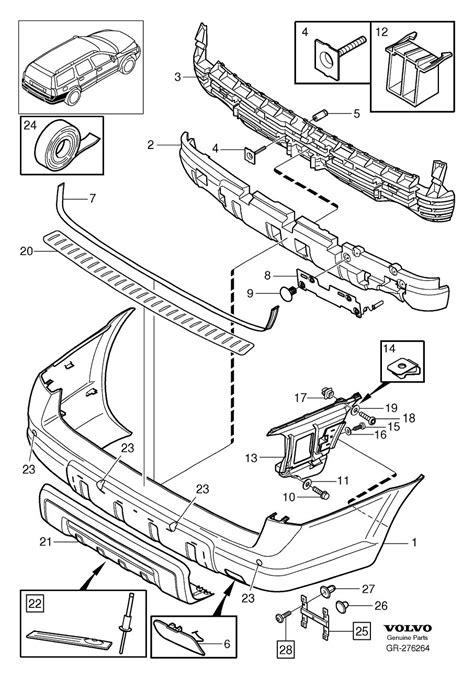 rear bumper additional components vxc xc