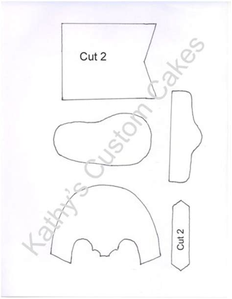 baby cowboy boot template    template  created