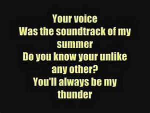 Thunder - Boys Like Girls - Lyrics - YouTube