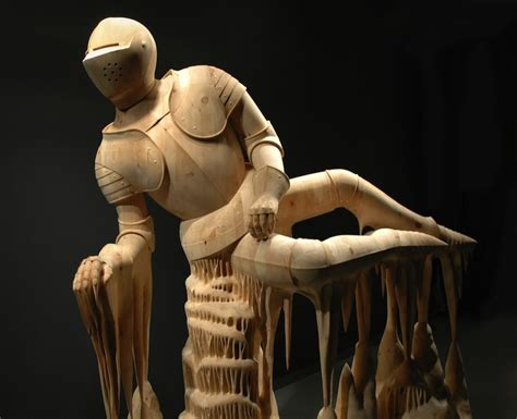 surreal hand carved wood sculptures  morgan herrin