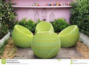 Garten Rattanmöbel : garten rattanm bel stockbild bild 33834521 ~ Pilothousefishingboats.com Haus und Dekorationen