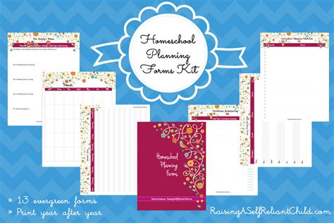 homeschool planning pages printables gift