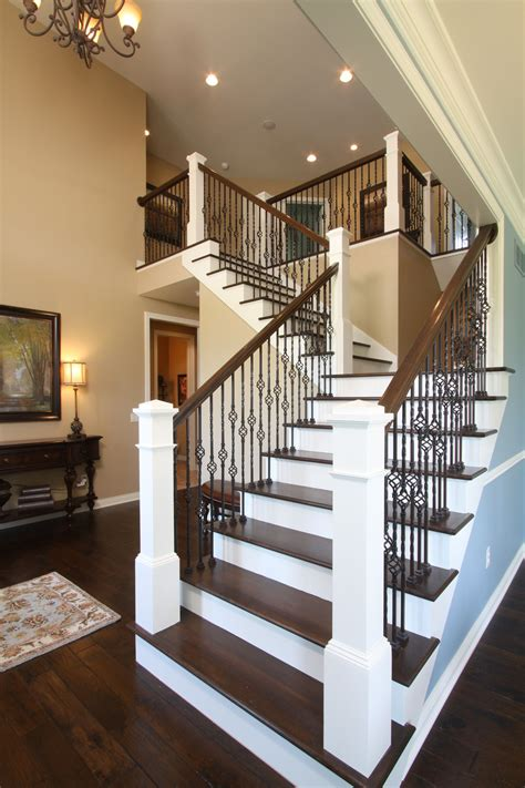 Metal Banister Railing by Open Railing Stairs With Wrought Iron Balusters Avbinc