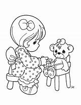 Coloring Pages Precious Moments Children Colouring Young Pm25 sketch template