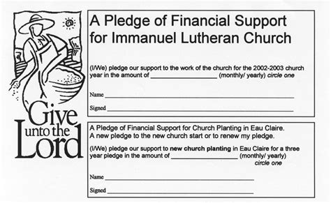 pledge  financial support