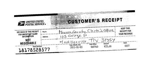 Transcript Money Order Receipt Big