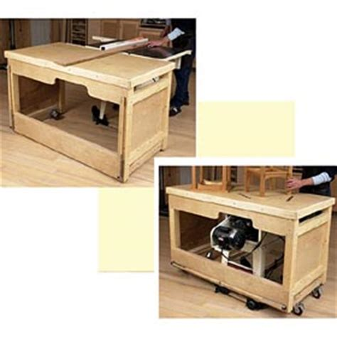 space saving double duty tablesaw workbench woodwo dp