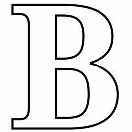 big letter b coloring page kids drawing and coloring pages With big b letter