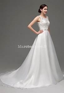 robe de mariee romantique coupe evasee With robe de mariée décolleté dos