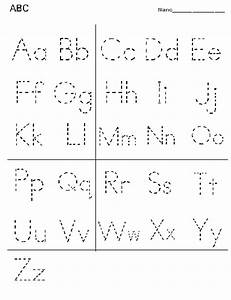 Printable alphabet letter tracing worksheets alphabet for Dots alphabet letter