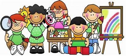 Preschool Clip Clipart Center Cartoon Learning Prek