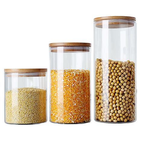 Kitchen Spice Jars Glass by Glass Storage Bottles Food Canister For Kitchen Containers