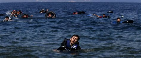 Syrian Refugees Boat by Dozens Of Refugees Die After Boat Sinks Coast Of