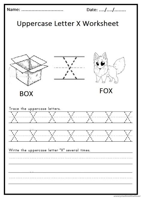write  uppercase letter  worksheet  st grade