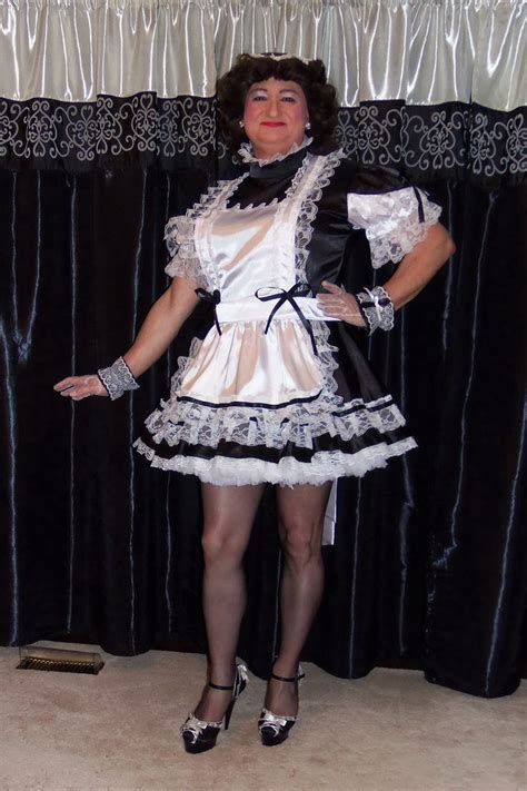 satin french maid uniform  aym cosplay