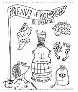 Kombucha Yeast Drawing Fizzy Bacteria Mother Illustrated Lila Drawings Kqed Scoby Daughter Tale Blob Illustration Fermentation Homemade Killers Getdrawings Dripping sketch template
