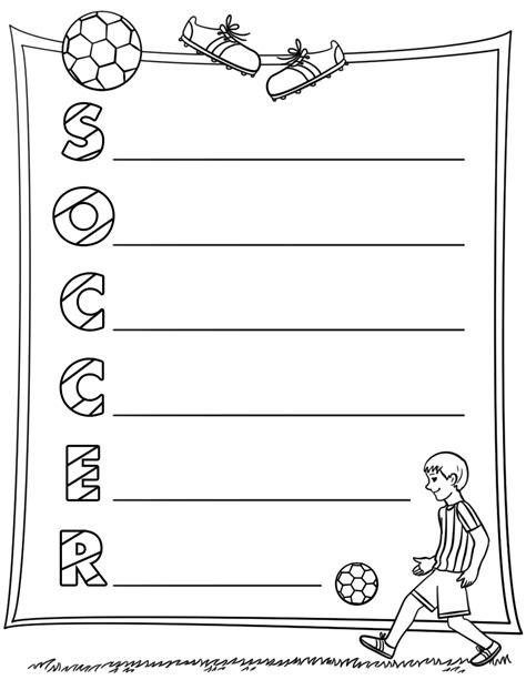 acrostic poem template soccer acrostic poem template free printable papercraft templates
