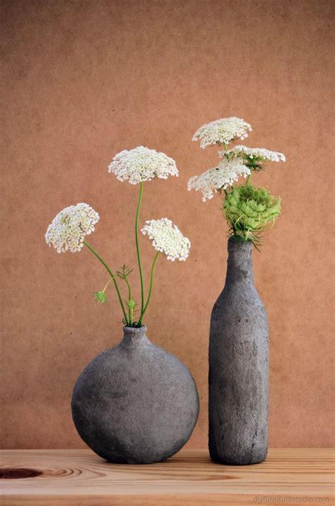 diy cement coverend vase  hobby lobby  empty wine