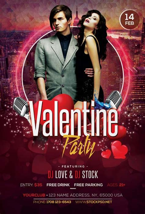 valentines party  party  flyer template