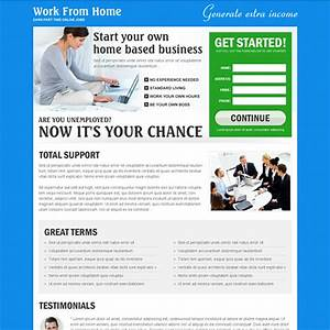 landing page design templates to improve your online presence With work from home web design