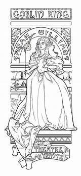 Coloring Pages Labyrinth Movie Adult Theatre Colouring Khallion Jareth Deviantart Google Printable Labyrinth1 Sheets Books Film Bored La Anime Print sketch template