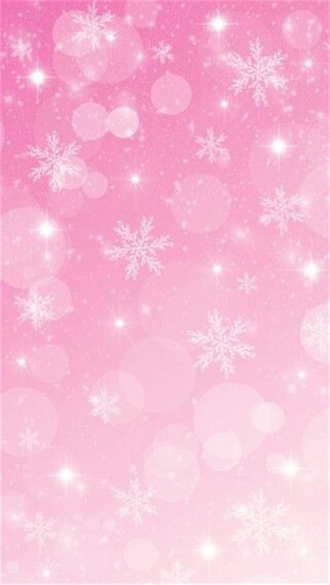 Light Pink Snowflake Background by Pink Winter Wallpaper Gallery