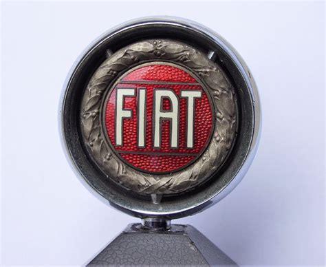 Fiat Car Mascot, Old Enamel Logo