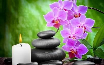 Orchids Pebbles Zen Candles Desktop Orchid Android