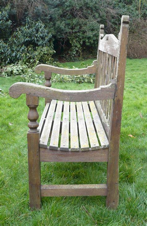 antiques atlas arts  crafts garden bench  teak