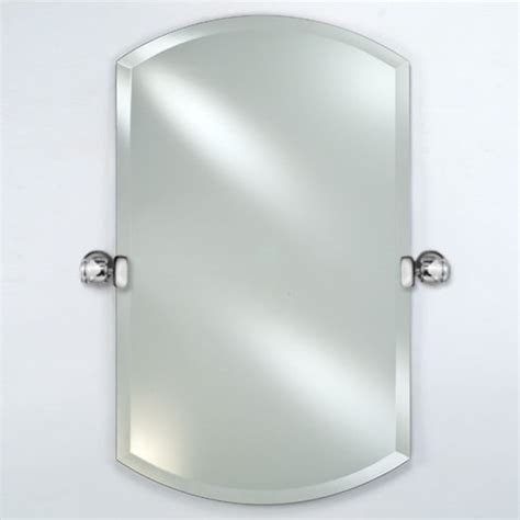 Tilting Bathroom Mirror Polished Nickel by Radiance Collection 16 W To 24 W Arch Top