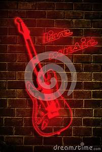 Live Music Neon Sign Stock graphy Image