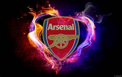 Arsenal Wallpapers Fc Heart Flames