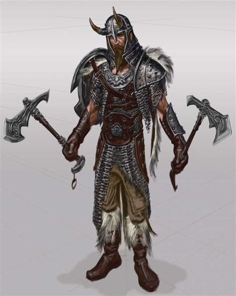 Nord Armor Male Concept Art From The Elder Scrolls V