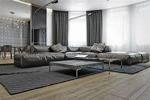 Teppich Auf Fliesen : wohnzimmer in grau mit eckcouch im mittelpunkt 55 ideen ~ Eleganceandgraceweddings.com Haus und Dekorationen