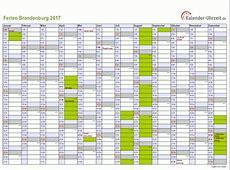 Ferien Brandenburg 2017 Ferienkalender zum Ausdrucken