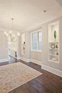 Beautiful paint colors and the floor on pinterest for White baseboards with wood floors