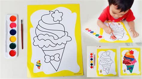 belajar mewarnai gambar es krim coloring book