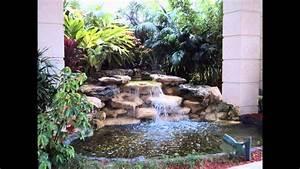 Creative Small garden waterfall design ideas - YouTube