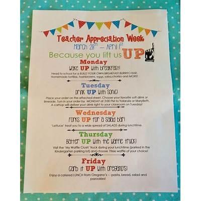 Teacher Appreciation Week ideasTeacher