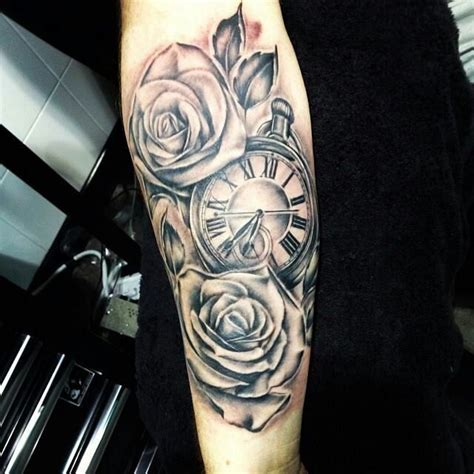 rose  clock tattoo tattoos tattoos  tattoos pocket  tattoos