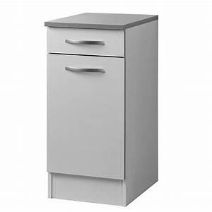 meuble bas 40 cm quotsmartyquot blanc With meuble 40 cm