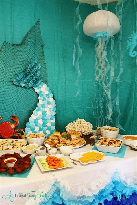 Mermaid Birthday Party  Miss Frugal Fancy Pants. Engagement Party Banners Decorations. Drapes For Decoration. Decoration Of Living Room. Low Cost Wall Decor. Cheap Online Home Decor. Wreath Decorating Supplies. Decorative Photo Frames. Online Home Decor Sites