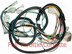 1980 Corvette Forward Lamp Wiring Harness Without Factory Tape Player Option