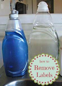 How to remove plastic adhesive stickers from bottles for How to put labels on bottles