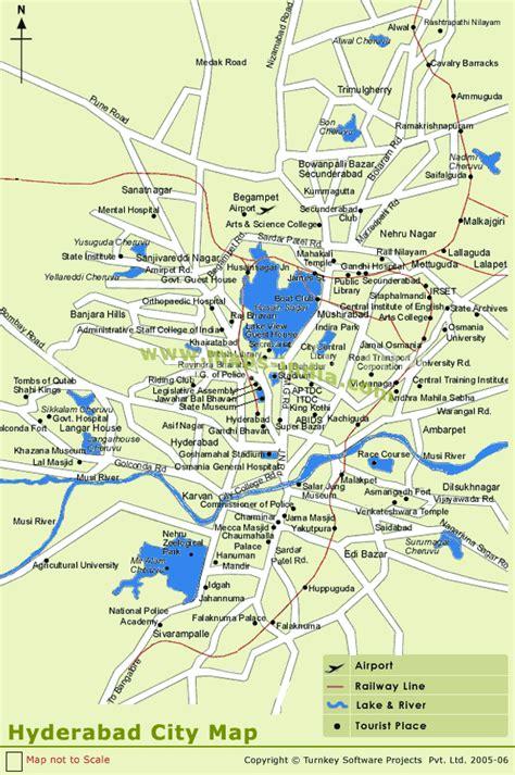 hyderabad map toursmapscom