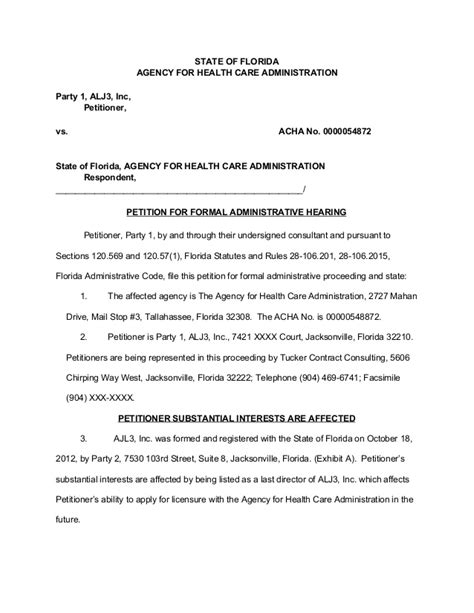 PetitionforFormalAdministrativeHearing-Sample